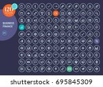 collection of line icons for... | Shutterstock .eps vector #695845309