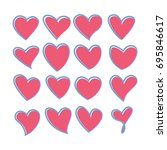 vector illustration   heart... | Shutterstock .eps vector #695846617