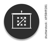 tactics icon | Shutterstock .eps vector #695849281