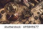 antique armillary zodiac    Shutterstock . vector #695849677
