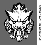 stone sculpture of a lion.... | Shutterstock .eps vector #695850301