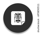 x rays icon | Shutterstock .eps vector #695850511