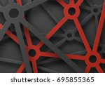 abstract patterned cobwebs of... | Shutterstock .eps vector #695855365