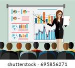 training staff  business... | Shutterstock .eps vector #695856271
