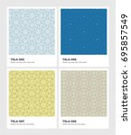 seamless vector pattern... | Shutterstock .eps vector #695857549