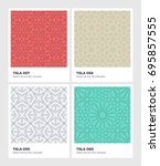 seamless vector pattern... | Shutterstock .eps vector #695857555