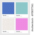 seamless vector pattern... | Shutterstock .eps vector #695857561