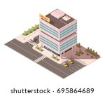 office building with... | Shutterstock .eps vector #695864689
