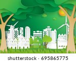 ecological green nature... | Shutterstock .eps vector #695865775