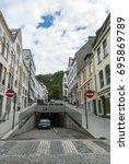 parking under ground in alesund | Shutterstock . vector #695869789