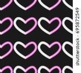 neon heart pattern vector    Shutterstock .eps vector #695872549