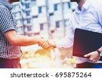 successful business people... | Shutterstock . vector #695875264