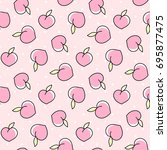 cute seamless pattern with... | Shutterstock .eps vector #695877475