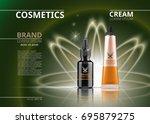 vector realistic cosmetics... | Shutterstock .eps vector #695879275