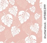 summer seamless pattern with... | Shutterstock .eps vector #695881399