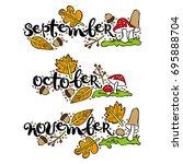 september. october. november.... | Shutterstock .eps vector #695888704
