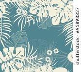 summer seamless tropical... | Shutterstock .eps vector #695893327