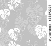 seamless tropical pattern with... | Shutterstock .eps vector #695893339