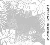 summer seamless tropical... | Shutterstock .eps vector #695893345