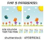child game   find 5 differences ... | Shutterstock .eps vector #695898361