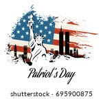 patriot day we will never... | Shutterstock .eps vector #695900875