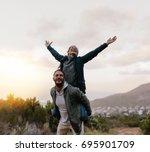 portrait of young man... | Shutterstock . vector #695901709