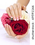 beautiful manicure nails with... | Shutterstock . vector #69591166