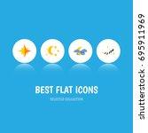 flat icon bedtime set of... | Shutterstock .eps vector #695911969