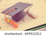 graduate study abroad program... | Shutterstock . vector #695912311