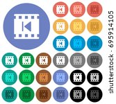 previous movie multi colored... | Shutterstock .eps vector #695914105