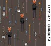 the pattern of arrows  fox   Shutterstock .eps vector #695916361