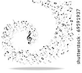 music notes background   Shutterstock .eps vector #69591937