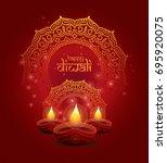 creative diwali festival... | Shutterstock .eps vector #695920075