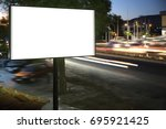 billboard mock up for outdoor...   Shutterstock . vector #695921425