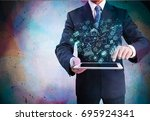 business concept. | Shutterstock . vector #695924341
