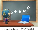 3d illustration of chalkboard... | Shutterstock . vector #695926981