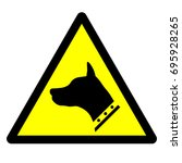 beware of dog sign. guard dog... | Shutterstock .eps vector #695928265