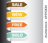 set of labels   sale  new  free ... | Shutterstock .eps vector #69592834
