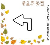 web line icon. arrow up left   Shutterstock .eps vector #695929549