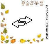 web line icon. arrows right  ...   Shutterstock .eps vector #695929645