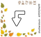 web line icon. arrow left down   Shutterstock .eps vector #695929699