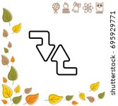 web line icon. arrows  right...   Shutterstock .eps vector #695929771
