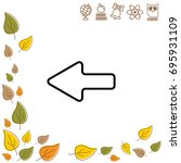 web line icon. left arrow   Shutterstock .eps vector #695931109