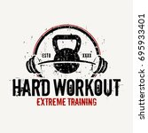hard workout   vector... | Shutterstock .eps vector #695933401