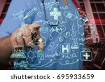 medical. | Shutterstock . vector #695933659