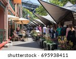 the rocks market  cafe and... | Shutterstock . vector #695938411