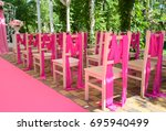 Wedding Chairs On Each Side Of...