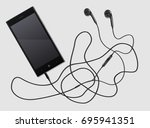 white black phone with the... | Shutterstock .eps vector #695941351
