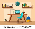creative interior. room of... | Shutterstock .eps vector #695941657