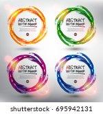 abstract vector banner set of 4.... | Shutterstock .eps vector #695942131